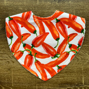 Chilli White & Red Triangle Bib