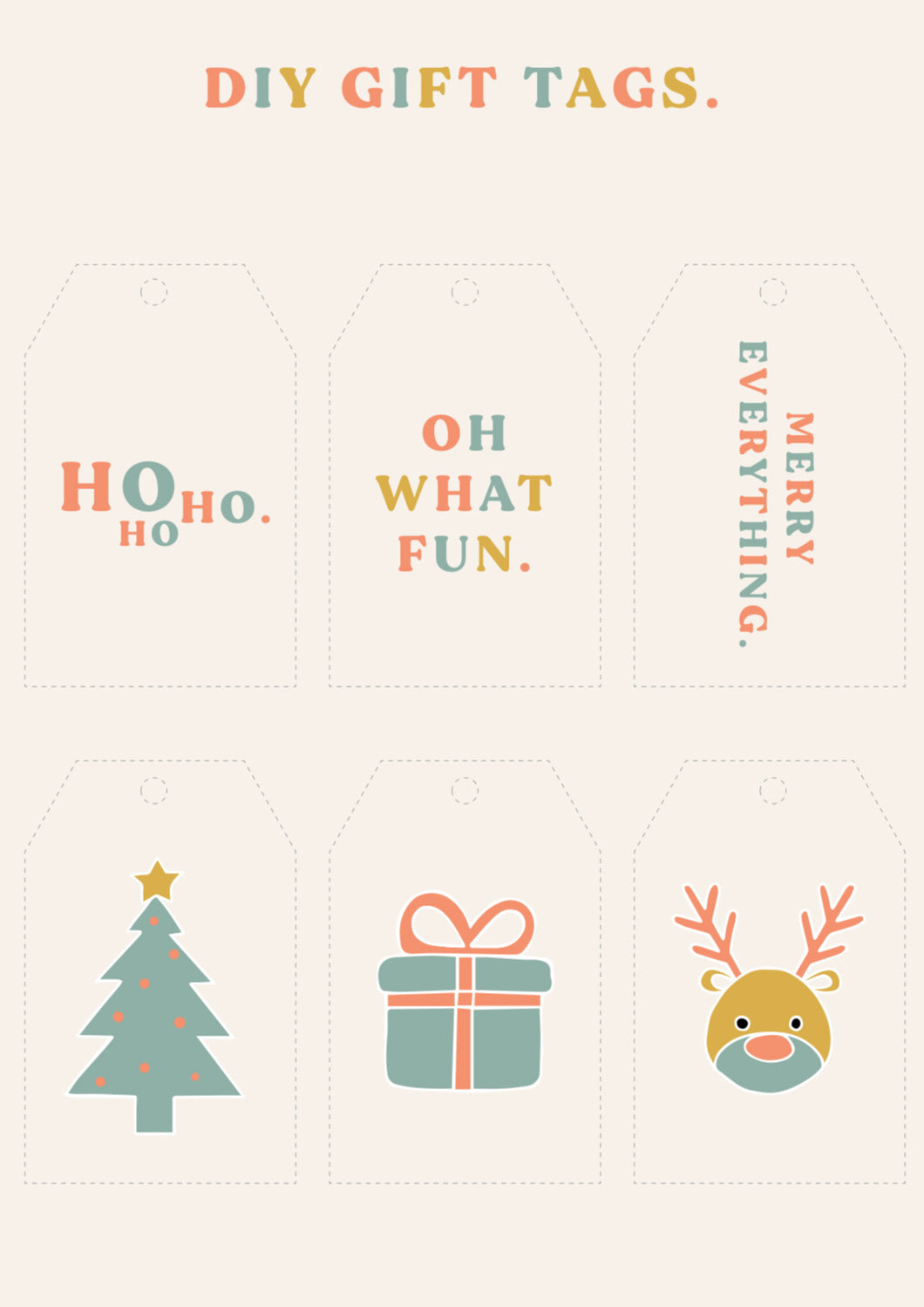 DIY Gift Tags // FREE CHRISTMAS PRINTABLE