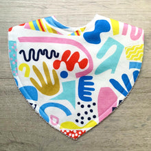 Load image into Gallery viewer, Tilda & Moo X Rudie Nudie Pop Pip Pow Triangle Bib