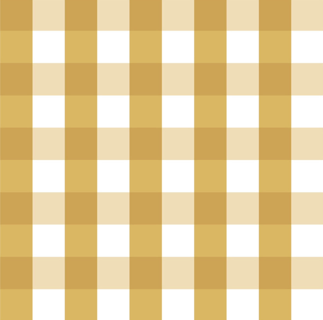 Butterscotch Gingham Burp Cloth