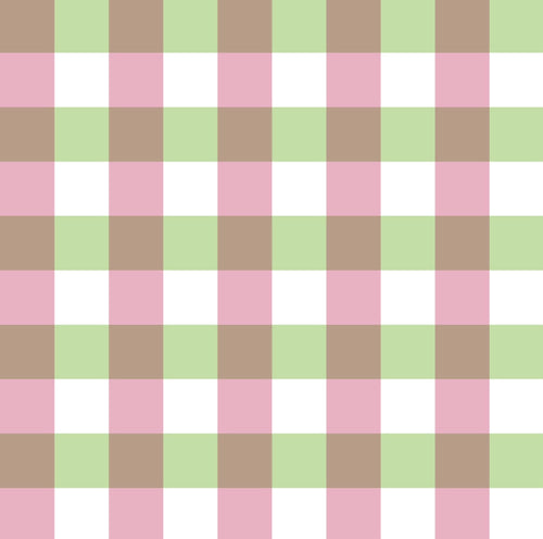 Candy Apple Gingham Burp Cloth