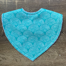 Load image into Gallery viewer, The Tiny Garden Floral Mint Triangle Bib