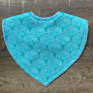 The Tiny Garden Floral Mint Triangle Bib