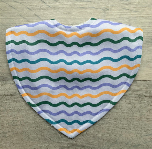 Tilda & Moo X Violet's Gift Mini Wave Triangle Bib