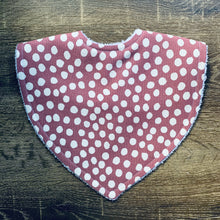 Load image into Gallery viewer, Dot Dark Rose Triangle Bib