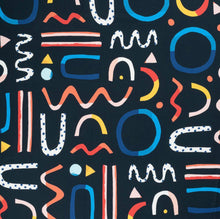 Load image into Gallery viewer, Brook Gossen Festive Fun Navy Burp Cloth