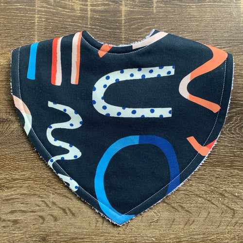 Brook Gossen Festive Fun Navy Triangle Bib