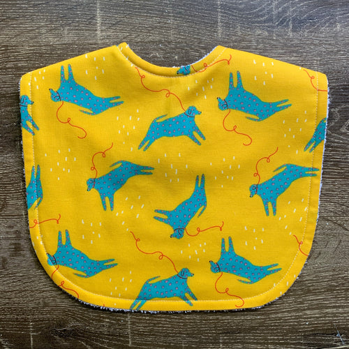 Jennifer Bouron Millennial Dog Yellow Organic Cotton Classic Bib
