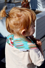 Load image into Gallery viewer, Katie Kortman Multistripe Teal Classic Bib
