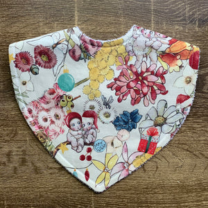 Gumnut Christmas Snow White Triangle Bib