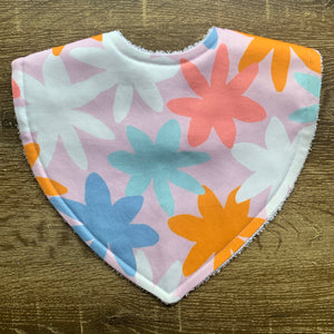 Tilda & Moo X Mosey Me Full Bloom Sherbet Triangle Bib
