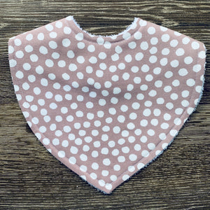 Dot Dusty Pink Triangle Bib