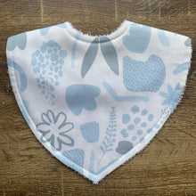 Load image into Gallery viewer, Tilda & Moo X Mosey Me Garden Party Baby Blue Triangle Bib