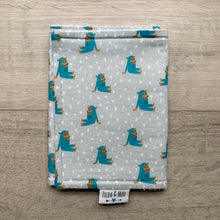 Load image into Gallery viewer, Isa Form Chimpanzee Blue Burp Cloth