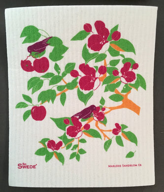 APPLE TREE BIRDS - SWEDISH DISHCLOTH