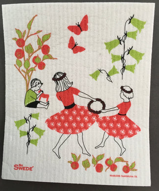 MIDSUMMER DANCE - SWEDISH DISHCLOTH