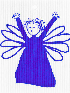 ANGEL - BLUE - SWEDISH DISHCLOTH