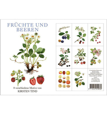 Notecards - Fruit & Berries Card Folder w/8 Note Cards