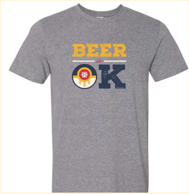 Beer Is OK (BeerIsOK) Tulsa Flag Tshirt