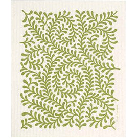 GREEN LEAVES - SWEDISH DISHCLOTH