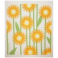 DAISIES - YELLOW - SWEDISH DISHCLOTH