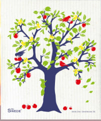 APPLE TREE - BLUE - SWEDISH DISHCLOTH