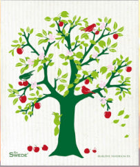 APPLE TREE - GREEN - SWEDISH DISHCLOTH