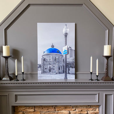 Blue Dome District, 24x36 Metal Print