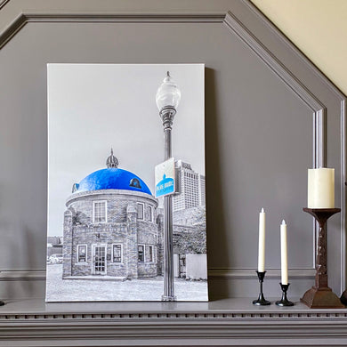 Blue Dome District 39x26 Canvas Wrap