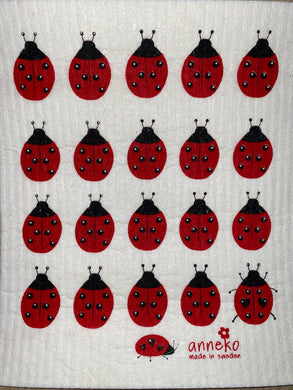 FLY AWAY LADYBUG - SWEDISH DISHCLOTH