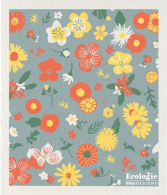 FLOWERS OF THE MONTH- SWEDISH DISHCLOTH
