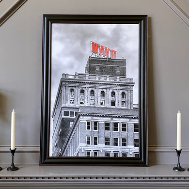 Mayo Hotel B&W w/ Color 24x36 Black Frame