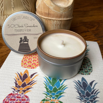 Travel Tin Candles - 5 O'Clock Somewhere - Pineapple & Rum
