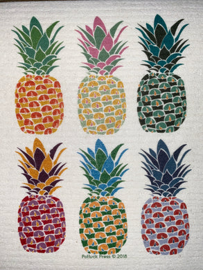 Tropical Pineapples- SWEDISH DISHCLOTH