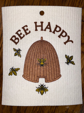 Bee Happy - Swedish Dishcloth