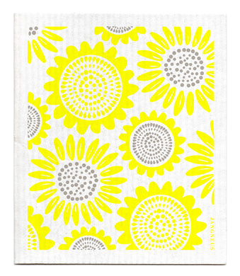 SUNFLOWER - YELLOW - SWEDISH DISHCLOTH