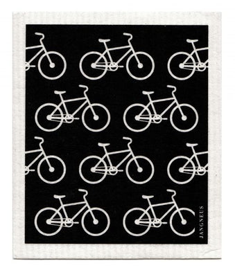 BIKES - BLACK - SWEDISH DISHCLOTH
