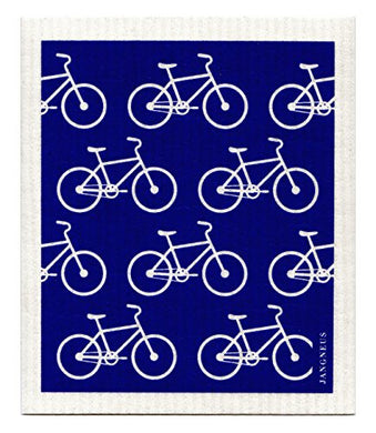 BIKES - BLUE - SWEDISH DISHCLOTH