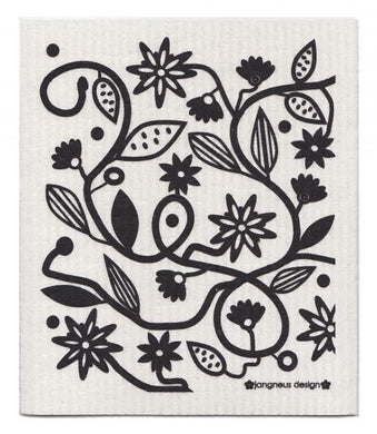 DOODLE BLACK - SWEDISH DISHCLOTH