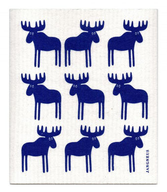 MOOSE - BLUE - SWEDISH DISHCLOTH