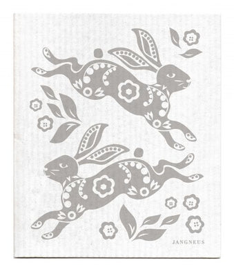 HARE-RABBIT-GRAY - SWEDISH DISHCLOTH