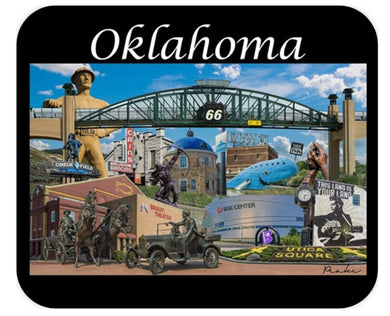 MOUSEPAD - OKLAHOMA COLLAGE