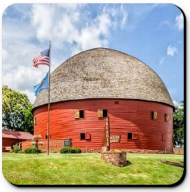 COASTER - RED ROUND BARN ON ROUTE 66