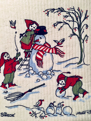 SNOWMAN - SWEDISH DISHCLOTH