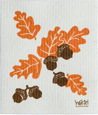 ACORNS & LEAVES - SWEDISH DISHCLOTH