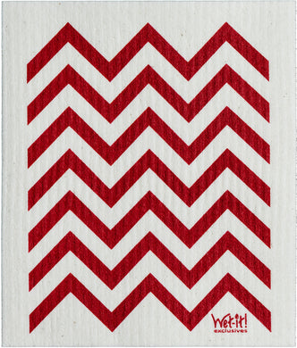 CHEVRON - RED - SWEDISH DISHCLOTH