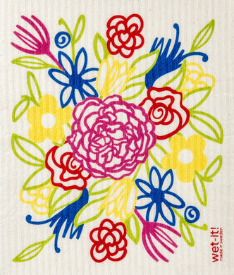 FLOWER BOUQUET - SWEDISH DISHCLOTH