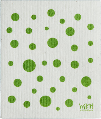 DOTS & DOTS - GREEN - SWEDISH DISHCLOTH