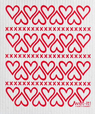 HEARTS - SWEDISH DISHCLOTH