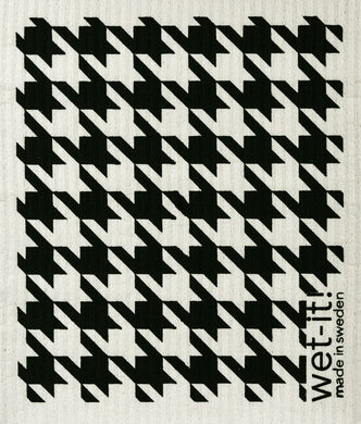 HOUNDSTOOTH - BLACK - SWEDISH DISHCLOTH